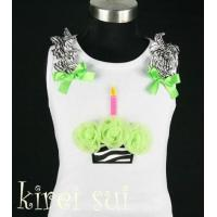 White Tank Top with Cupcake CBZ3A Manufactures