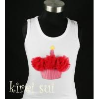 White Tank Top with Cupcake CA2 Manufactures