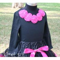 Buy cheap Black Long Sleeves Top with Rosettes G5 from wholesalers