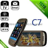 Buy cheap China copy mobile phone C7 Dual Sim Card tv GSM WiFi from wholesalers