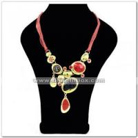 Buy cheap Alloynecklacewith rhinestone(s)in gold plating, with lariat chain from wholesalers