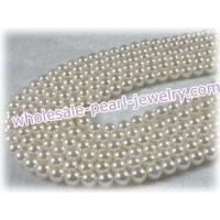 Buy cheap 6-6.5mm AAA+ White Cultured Akoya Pearl strands from wholesalers