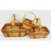 Buy cheap Willow products willow flower basket-002 from wholesalers
