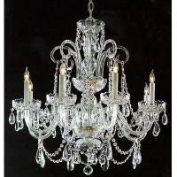 Wholesale Silver Crystal Chandelier / with glass Arms from china suppliers
