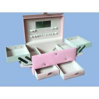 Wholesale Leather Box Leather cosmetic box with drawer from china suppliers