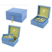 Buy cheap jewelry packing box skin leather jewelry box leather storage box from wholesalers