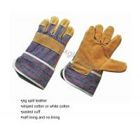 Wholesale Pig split leather working gloves from china suppliers