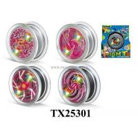 China Die Cast Set YOYO W/FLASHLIGHT IN 7 COLORS/BEARING/METAL&PLASTIC Item NOTX25301 on sale