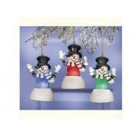 Buy cheap Polyresin Ornaments Resin Light-up Snowman Oranments from wholesalers