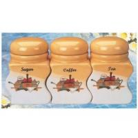 Buy cheap Stoneware Canister Set Stoneware 3-pc Canister Set(set of 3) from wholesalers