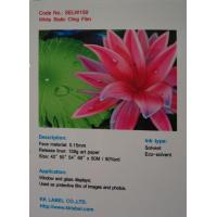 China Solvent & Eco-solvent Inkjet media Transparent and White Static Cling Film on sale