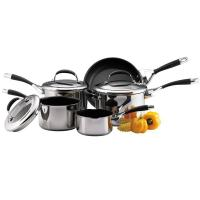 Buy cheap Meyer Circulon Stainless Steel Elite 5 Piece Cookware Set from wholesalers