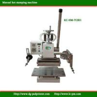 Buy cheap Manual operating Hot stamping machine from wholesalers