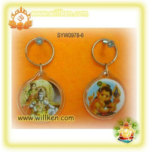 Buy cheap SYW0978-6 Key chain with hindu god photo from wholesalers