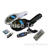 Buy cheap Car FM transmitter supporting SD/MMC Card;Flash drive from wholesalers