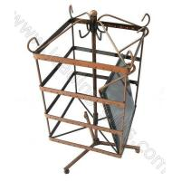 Buy cheap Rotating Square Shape Earring Display Stands With Mirror-Antique Copper from wholesalers