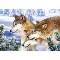 Buy cheap Wild wolves in the snow - 3D Animal Wall Decor Picture from wholesalers