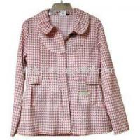China Woven Ladies Coats Ladies Pink Winter Coat on sale