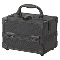 Cosmetic Case Mini Train Case is just the right size for toting a weekend's worth of beauty essentials, hair and makeup brushes, combs, accessories, or jewelry. Product Features:7-1/2
