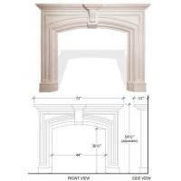 China CL-F021 stone fireplace designs on sale