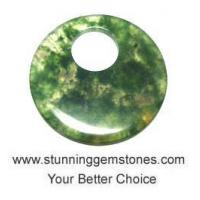 Wholesale Wholesale Natural Moss Agate Donuts (from 50mm to 55mm),  A+ Grade, per pcs from china suppliers