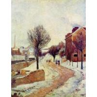 Wholesale Impressionist(3830) Suburb under Snow from china suppliers