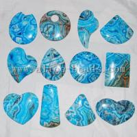 Wholesale Blue Crazy Lace Agate Pendant Bead from china suppliers
