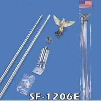 Buy cheap 2 Pieces 6 FT  Steel Flag Pole Kit. from wholesalers