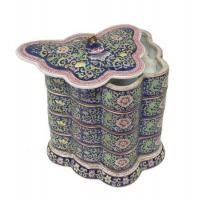 Buy cheap Porcelain Blue Butterfly Shape Stack Candy Box from wholesalers