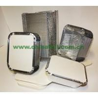 Buy cheap food grade aluminum foil container with lids from wholesalers