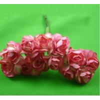 Wholesale PFPR014Peach Red 2.0cm paper flower rose from china suppliers