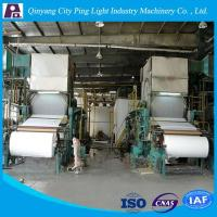 Buy cheap Small Paper Making Machine / Small Capacity Toilet Paper Making Machine from wholesalers