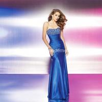 Buy cheap Classic Trumpet Mermaid Scoop-neckline Floor-length Taffeta Beading Prom Dress from wholesalers