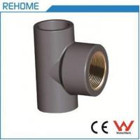 China PVC-U DIN8063 PVC-U Tee Copper Threaded on sale