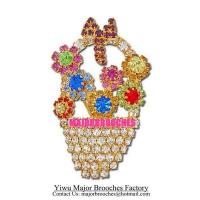Buy cheap Fashion Brooches Beauty Flower Basket Bouquet Brooch Pin MP006 from wholesalers