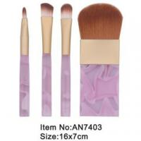 Wholesale 4pcs small print rose plastic handle animal/nylon hair cosmetic brush set AN7403 from china suppliers
