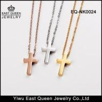 Wholesale 316L Stainless Steel Women's Plain Cross Pendant Necklace from china suppliers