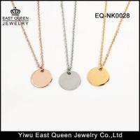 Wholesale Stainless Steel 10mm Plain Bling Round Pendant Necklace Wholesale from china suppliers