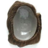 Buy cheap Hairpieces HMH03 Short Light Wavy Medium Density Human Hair Hard Base Mens Toupee Hairpieces from wholesalers