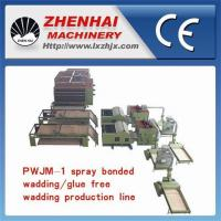 Wholesale PWJM-1 Spray bonded wadding/Glue free wadding Production Line(with two usages) from china suppliers