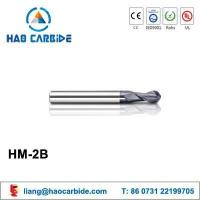 Buy cheap HM-2B 2 flute ball nose solid carbide end mills with straight shank from wholesalers
