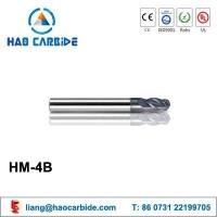Buy cheap HM-4B 4 flute ball nose solid carbide end mills with straight shank from wholesalers
