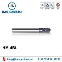 Buy cheap HM-4BL ball nose solid carbide end mills with straight shank and long shank from wholesalers