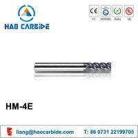 Buy cheap HM-4E 4 flute flattened solid carbide end mills with straight shank from wholesalers