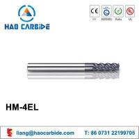 Buy cheap HM-4EL 4 flute flattened solid carbide end mills with straight shank and long cutting edge from wholesalers