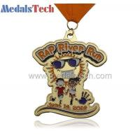 Wholesale MTMD001gold plated custom metal running medal from china suppliers