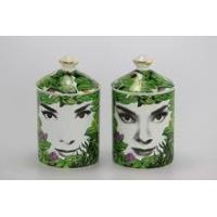 Buy cheap different face design decoration ceramic jar for candle wholesale from wholesalers