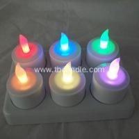 Buy cheap Color changing rechargeable tealight candle with remote from wholesalers