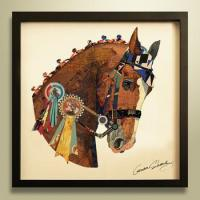 Buy cheap 3d handmade horse animal oil painting for home decor from wholesalers