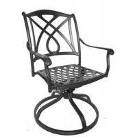 Wholesale 2016 outdoor heavy duty cast aluminum swivel chair from china suppliers